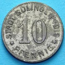 Германия 10 пфеннигов 1919 год. Нотгельд Золинген.