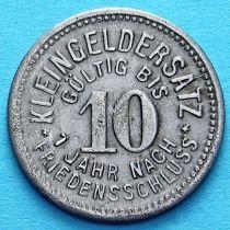 Германия 10 пфеннигов 1918 год. Нотгельд Мойзельвиц. Железо.