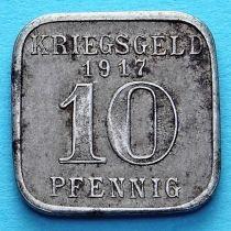 Германия 10 пфеннигов 1917 год. Нотгельд Нойвид.