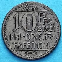Германия 10 пфеннигов 1918 год. Нотгельд Фридрихсхафен.