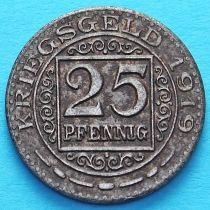 Германия 25 пфеннигов 1919 год. Нотгельд Оберхаузен.