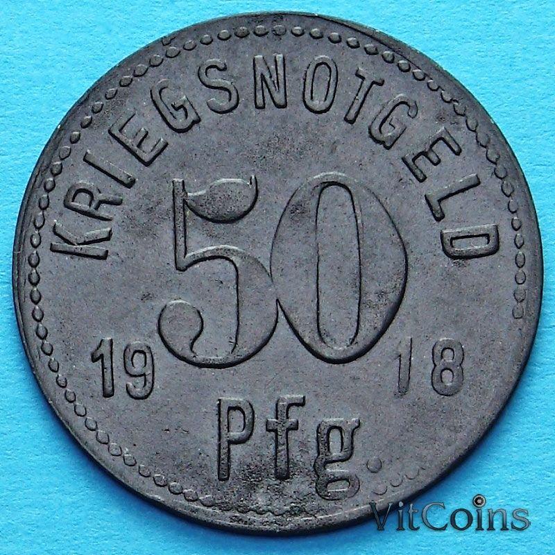 Монета Германии 50 пфеннигов 1918 год. Нотгельд Апольда.