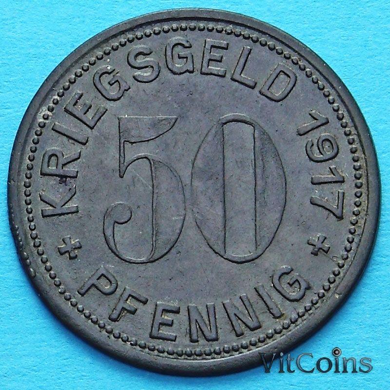 Монета Германии 50 пфеннигов 1917 год. Нотгельд Меттман.