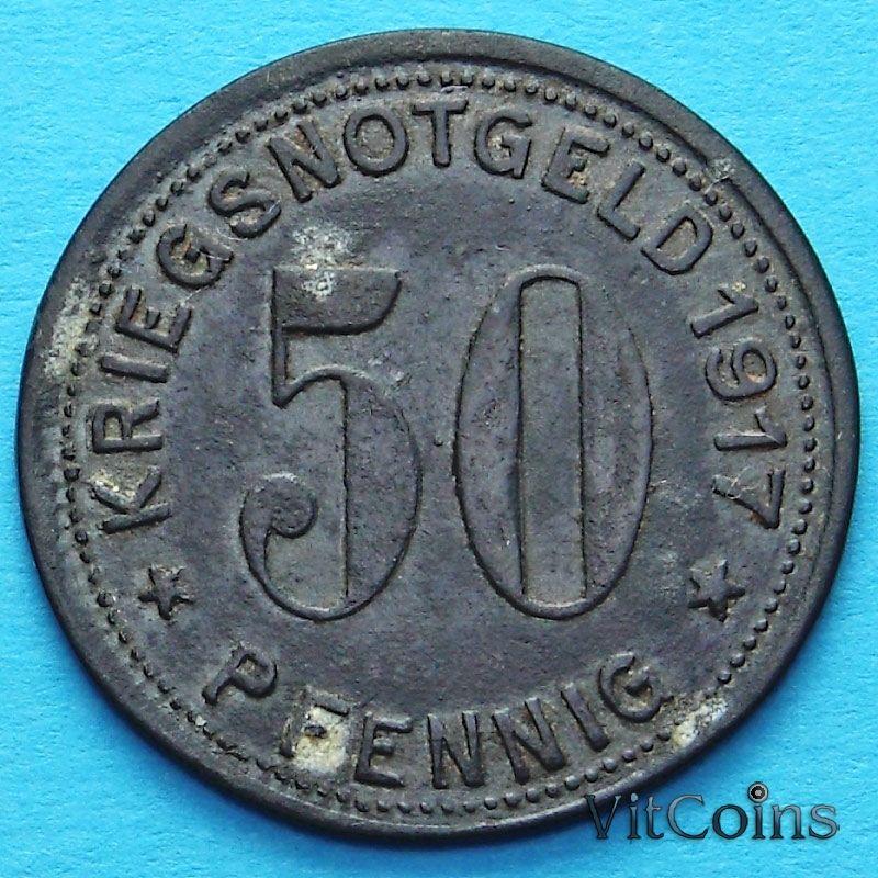 Монета Германии 50 пфеннигов 1917 год. Нотгельд Гуммерсбах.