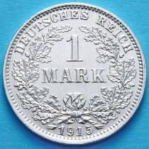 Германия 1 марка 1915 год. Серебро Е.