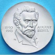 ГДР 20 марок 1973 год. Август Бебель. Серебро