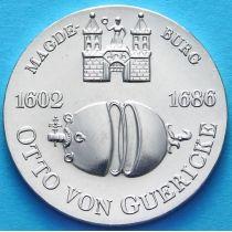 ГДР 10 марок 1977 год. Отто фон Герике. Серебро.
