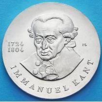ГДР 20 марок 1974 год. Иммануил Кант. Серебро