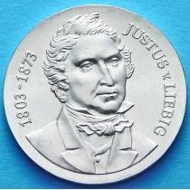 ГДР 10 марок 1978 год. Юстус Либих. Серебро.