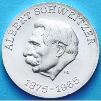 ГДР 10 марок 1975 год. Альберт Швейцер. Серебро.