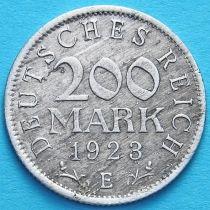 Германия 200 марок 1923 год. Е.