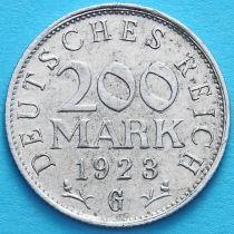 Германия 200 марок 1923 год. G.