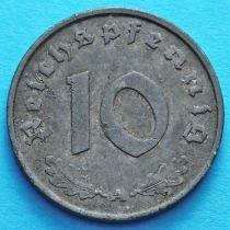 Германия 10 рейхспфеннигов 1942 год. А.
