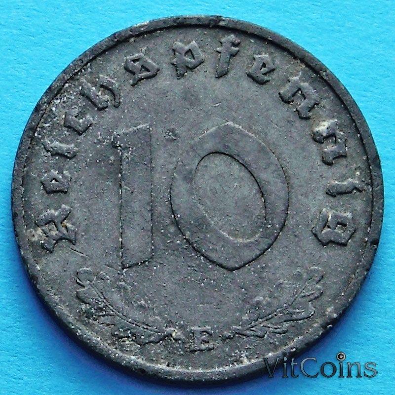 Монета Германии 10 рейхспфеннигов 1941 год. Е.