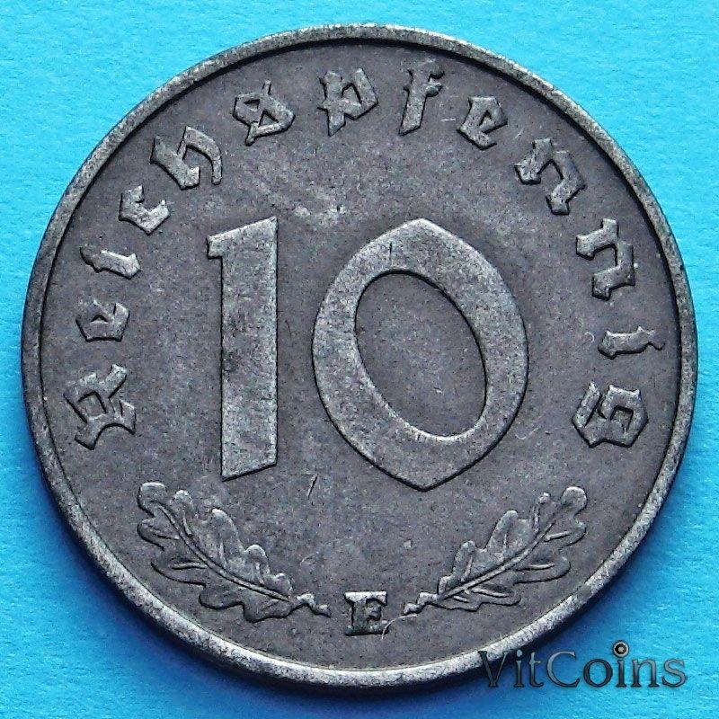 Монета Германии 10 рейхспфеннигов 1944 год. Е.