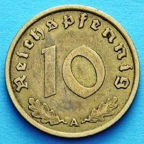 Германия 10 рейхспфеннигов 1937 год. А