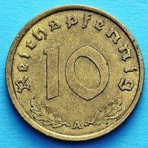 Германия 10 рейхспфеннигов 1938 год. А