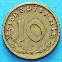Германия 10 рейхспфеннигов 1938 год. D.