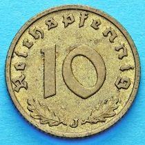 Германия 10 рейхспфеннигов 1937 год. J.