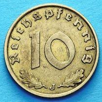 Германия 10 рейхспфеннигов 1938 год. J.