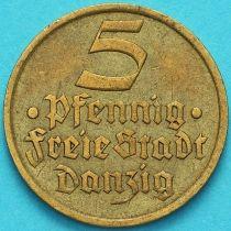 Данциг 5 пфеннигов 1932 год. Камбала.
