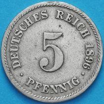 Германия 5 пфеннигов 1896 год. F