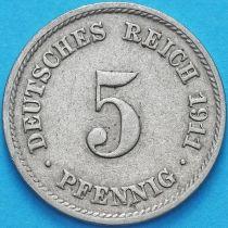 Германия 5 пфеннигов 1911 год. D.