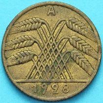 Германия 10 рейхспфеннигов 1928 год. А