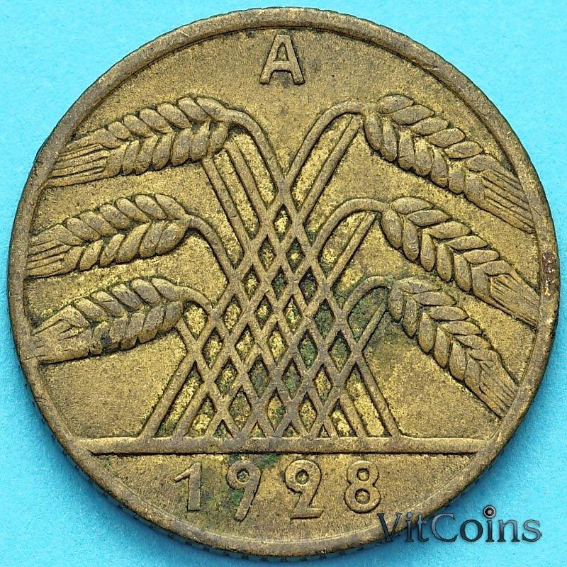 Монета Германия 10 рейхспфеннигов 1928 год. А