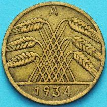 Германия 10 рейхспфеннигов 1934 год. А