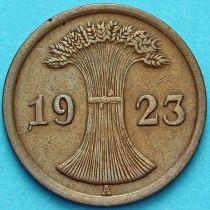Германия 2 рентенпфеннига 1923 год. А