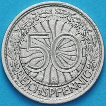 Германия 50 рейхспфеннигов 1927 год. Монетный двор А.