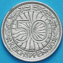 Германия 50 рейхспфеннигов 1928 год. Монетный двор А.