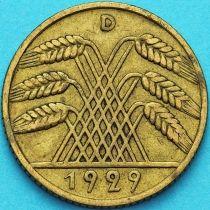 Германия 10 рейхспфеннигов 1929 год. D
