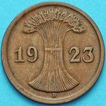 Германия 2 рентенпфеннига 1923 год. D