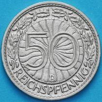 Германия 50 рейхспфеннигов 1928 год. Монетный двор D.