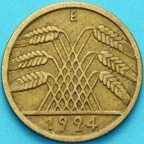 Германия 10 рентенпфеннигов 1924 год. Е