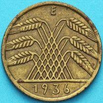Германия 10 рейхспфеннигов 1936 год. Е
