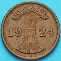 Германия 2 рейхспфеннига 1924 год. Монетный двор Е.