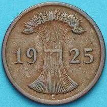 Германия 2 рейхспфеннига 1925 год. Монетный двор Е.