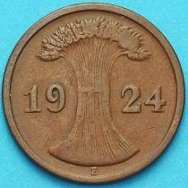 Германия 2 рентенпфеннига 1924 год. Е
