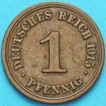 Германия 1 пфенниг 1915 год. F.