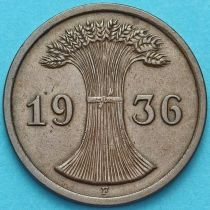 Германия 2 рейхспфеннига 1936 год. Монетный двор F.