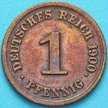 Германия 1 пфенниг 1900 год. G.
