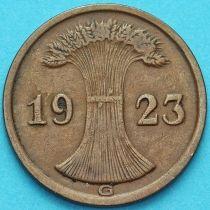 Германия 2 рентенпфеннига 1923 год. G