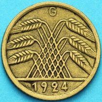Германия 5 рейхспфеннигов 1924 год. G.