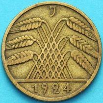 Германия 10 рентенпфеннигов 1924 год. J