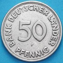 ФРГ 50 пфеннигов 1949 год. F