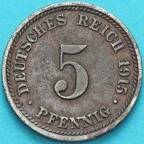 Германия 5 пфеннигов 1915 год. D.