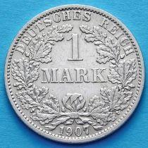 Германия 1 марка 1907 год. Серебро А.